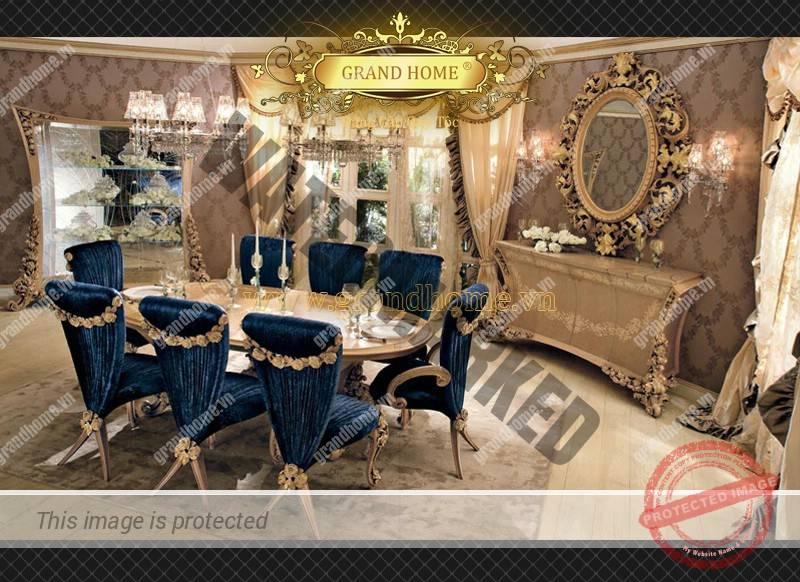 Bộ bàn ăn cổ điển Châu Âu cao cấp