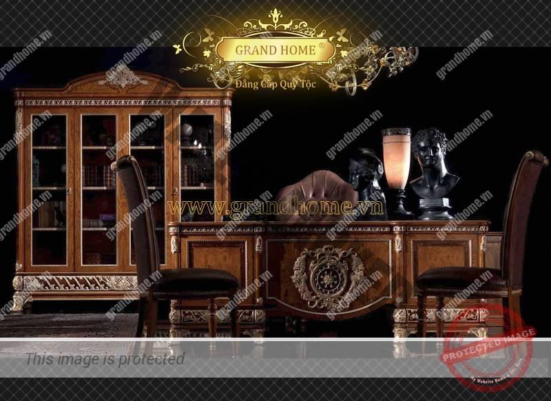 Bộ bàn làm việc cổ điển cao cấp