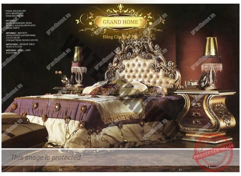 Bộ giường ngủ đẳng cấp Châu Âu