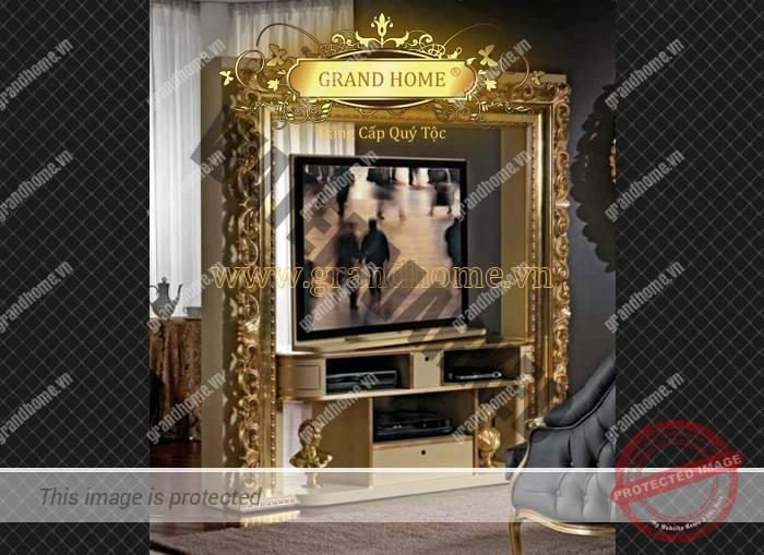 Kệ tivi cổ điển Châu Âu cao cấp