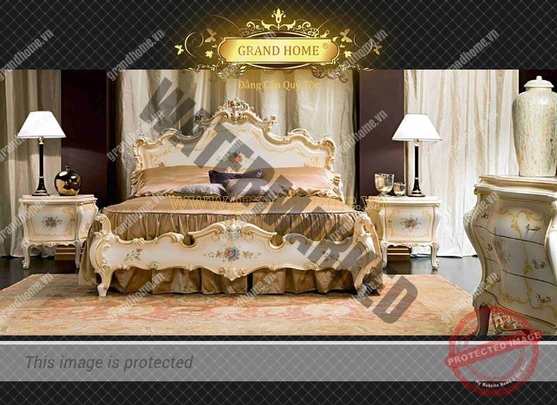 Nội Thất Dát Vàng Giường Ngủ Cổ Điển Cao Cấp